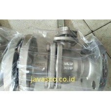 Ball Valve 2 Pcs Body Stainless Steel SS304 JIS 10K Flange Yone