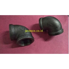 Elbow 90deg Black Steel TSP